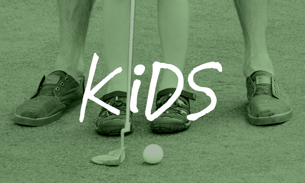kids play golf at Golf the Round